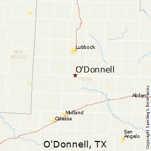 O'Donnell,Texas Map