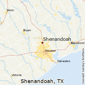 Shenandoah,Texas Map