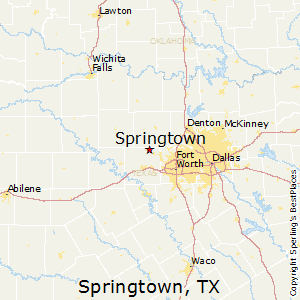 Springtown,Texas Map