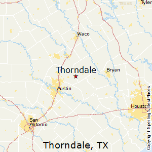 Thorndale,Texas Map
