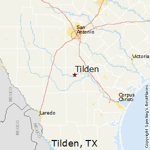 Tilden,Texas Map