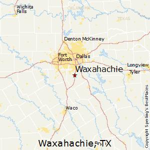 Map Of Waxahachie Texas
