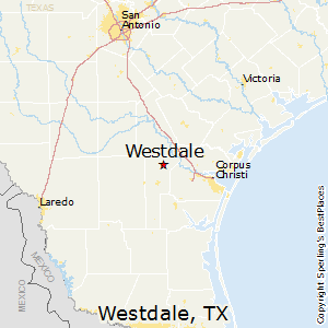 Westdale,Texas Map