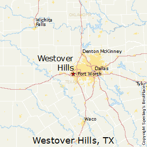 Westover_Hills,Texas Map