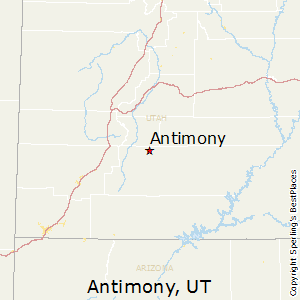 Antimony,Utah Map