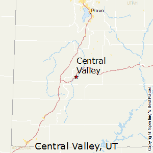 Central_Valley,Utah Map
