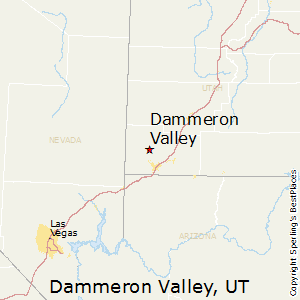 Dammeron_Valley,Utah Map