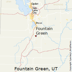 Fountain_Green,Utah Map