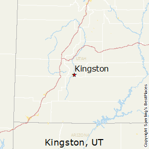 Kingston,Utah Map