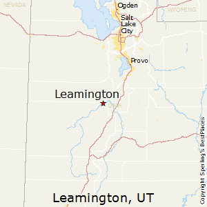 Leamington,Utah Map