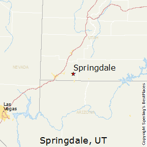 Springdale,Utah Map