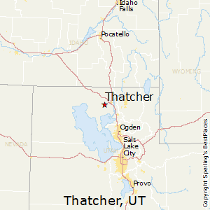 Thatcher,Utah Map