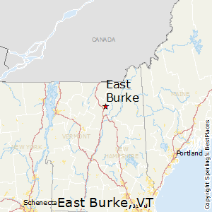 East_Burke,Vermont Map