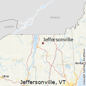 Jeffersonville,Vermont Map