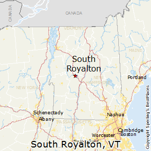 South_Royalton,Vermont Map