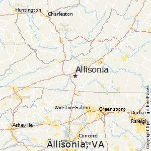 Allisonia,Virginia Map