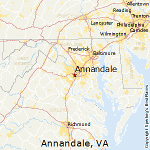 Annandale,Virginia Map