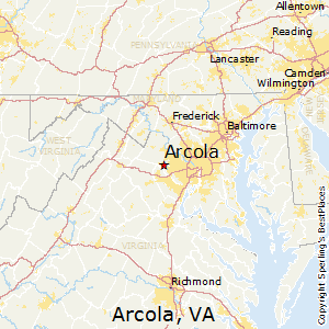 Arcola,Virginia Map