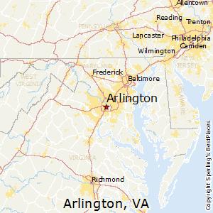 Arlington,Virginia Map