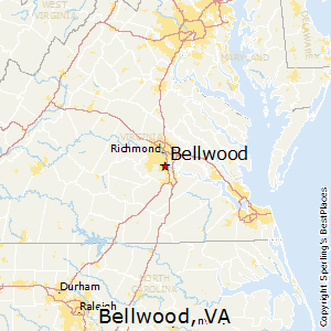 Bellwood,Virginia Map