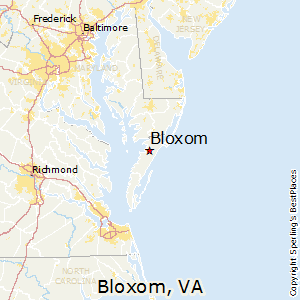 Bloxom,Virginia Map