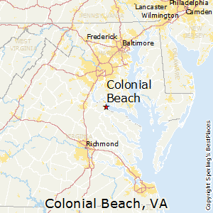 Colonial_Beach,Virginia Map