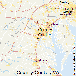 County_Center,Virginia Map