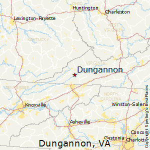 Dungannon,Virginia Map