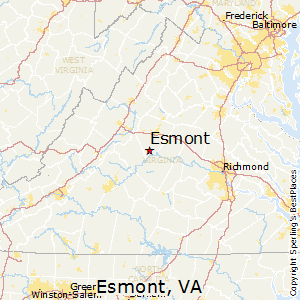 Esmont,Virginia Map