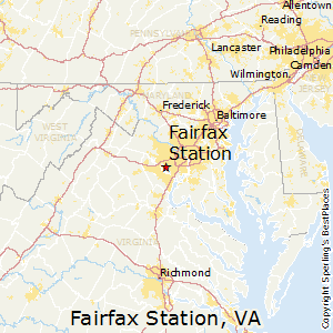 Fairfax_Station,Virginia Map