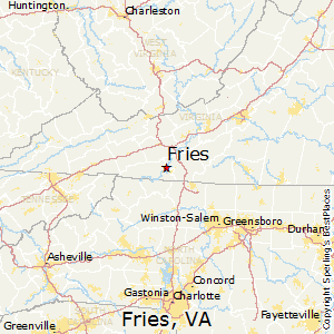 Fries,Virginia Map