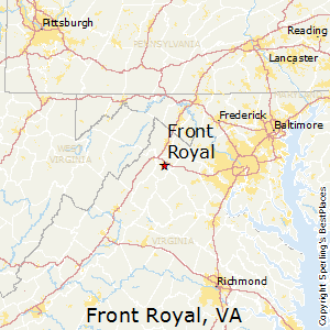 Front_Royal,Virginia Map