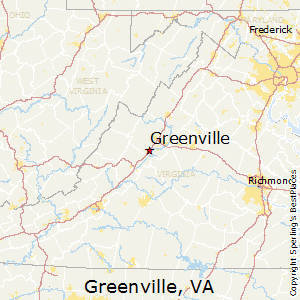 Greenville,Virginia Map