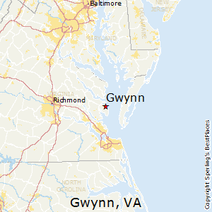 Gwynn,Virginia Map