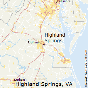 Highland_Springs,Virginia Map