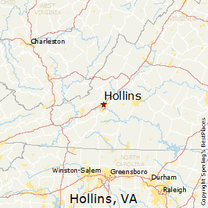 Hollins,Virginia Map