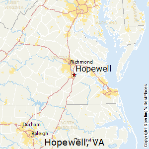 Hopewell,Virginia Map