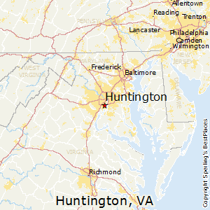Huntington,Virginia Map