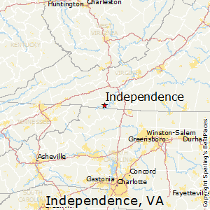 Independence,Virginia Map