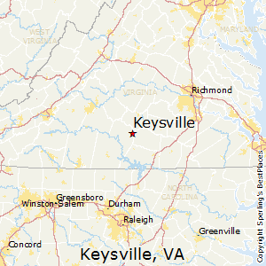 Keysville,Virginia Map