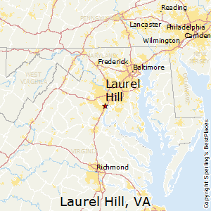 Laurel_Hill,Virginia Map