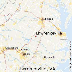 Lawrenceville,Virginia Map