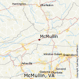 McMullin,Virginia Map