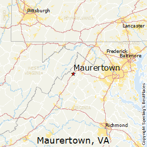 Maurertown,Virginia Map