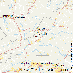 New_Castle,Virginia Map