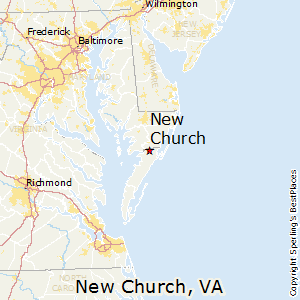 New_Church,Virginia Map