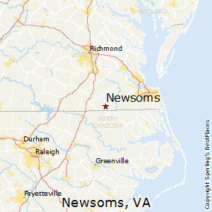 Newsoms,Virginia Map