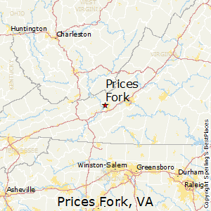 Prices_Fork,Virginia Map