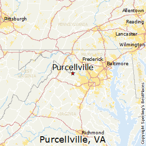 Purcellville,Virginia Map