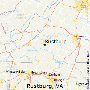 Rustburg,Virginia Map